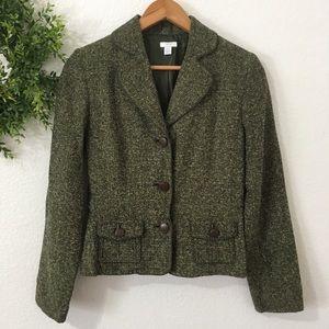 Apt 9 Green Tweed Blazer